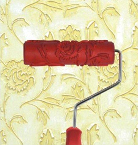 Bueer 7' DIY Patterned Paint Roller Decorative Rubber Roller with Plastic Handle (Model EG110)