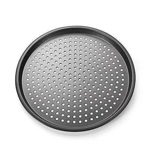 Plateau de pizza de plat de cuisson de plats à la maison de plat noir en acier au carbone antiadhésif