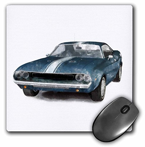 3dRose LLC 8 x 8 x 0.25 Inches Mouse Pad, Classic Muscle Car (mp_40591_1)
