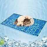 Tappetino Refrigerante per Cani, Pad Auto-Raffreddamento, Tappetino di Raffreddamento Durevole per Cani e Gatti, Gel Non tossico, Tappeto Rinfrescante per Animali Domestici in Estate Calda, 90*50cm