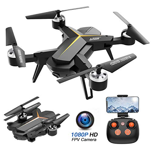 Foldable Drone with 1080P HD Camera for Adults, Voice Control, RC Quadcopter for Beginners with Altitude Hold, Auto Return Home, Gravity Sensor, Trajectory Flight, 2 Batteries, App Control