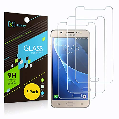 Didisky Pellicola Protettiva in Vetro Temperato per Samsung Galaxy J5 2016 , [ 3 Pezzi ] Tocco Morbido, Facile da Pulire, Facile da installare (Non per J5 2015 / J5 2017 /J5 2018)
