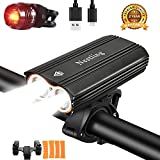 Nestling® 2400Lumens CREE XML-T6 LED Bike Light Set USB Rechargeable,Waterproof Front Bicycle Lights