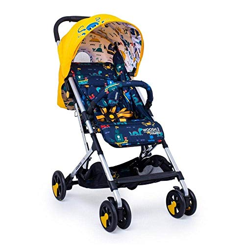 Cosatto Woosh 2 Pushchair – Ultra Lightweight Stroller From Birth to 25kg - One Hand Easy Fold, Compact (Sea Monsters)