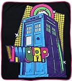 Doctor Who Blanket Tardis Pop Art Micro Raschel Afghan Throw Blanket 50'x 60'