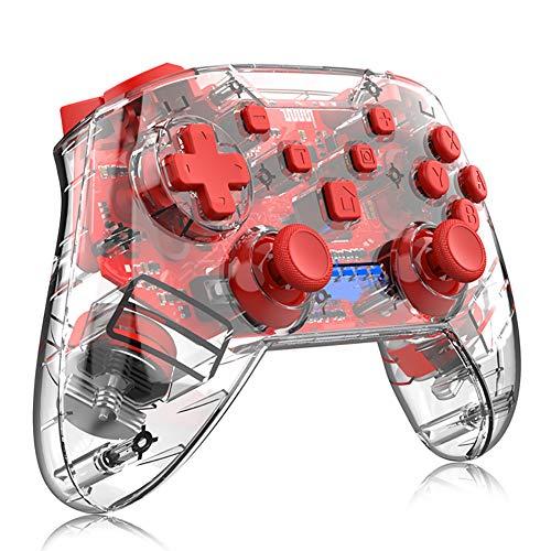 Wireless Gamepad-Controller, Spiel Joystick Griff mit Licht, Dual Vibration, 8 Stunden von Spielen, Für PC/Android Handys, Tablets, TV Box, X-Box
