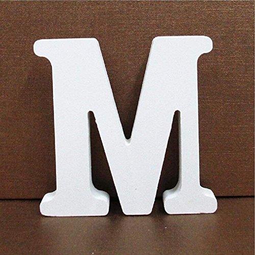 Gspirit Decorativo De Madera Letras, Pared Letras 26 Letras Madera Alfabeto para Niños Bebé Nombre Cumpleaños Fiesta Boda Casa Decoración (M)