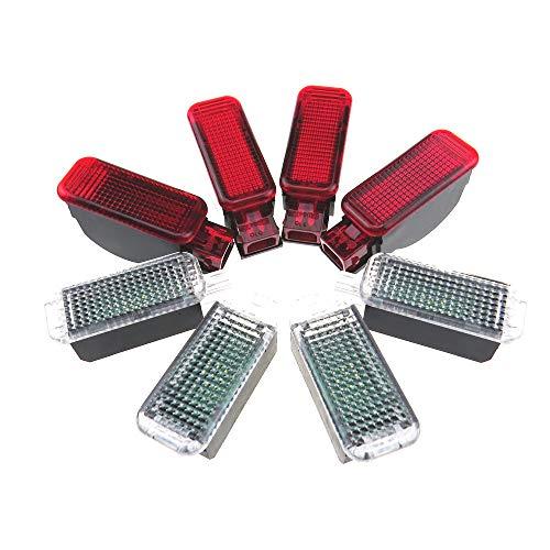 Luces interiores para el suelo del pie + luz roja de advertencia para Q3, Q5, A4, S4, A5, A6, LED 3AD947409 3AD 947 409 8KD947411