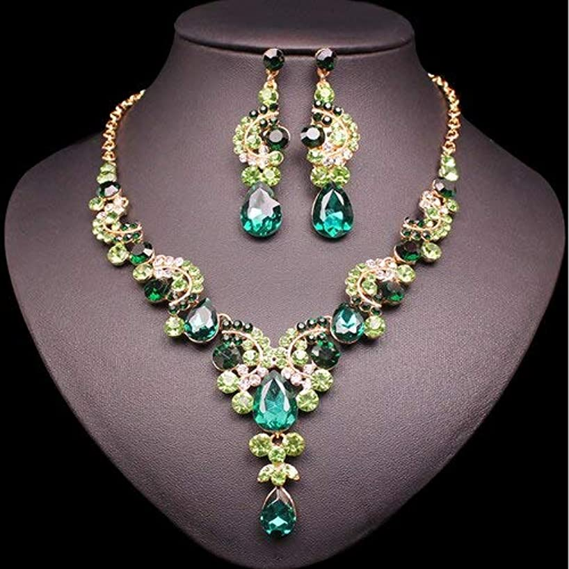 2019 Fashionable Indian Earrings, Necklace Bridal Jewelry Sets | Luxury Crystal Wedding, Party, Prom Jewelry Sets | Gift for Women
