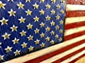 """Wooden Rustic Style American Flag w/Shell Casings (19""""x37"""") by"""