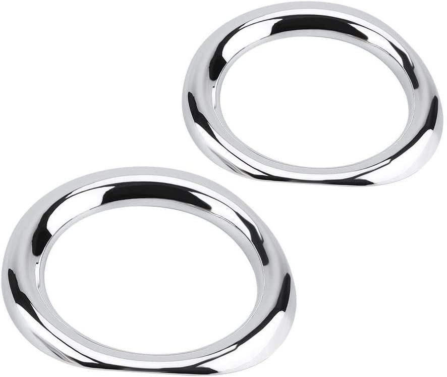 2Pcs Chrome Front Fog Light Frame Selling rankings Trim Low price Cover F ABS Keenso