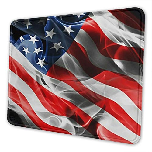 Amoky Flag 3D Print Mousepad for Computer Non-Slip Rubber for Gaming Multifunctional 10 x 12 inch