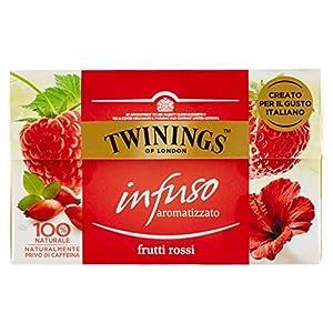 Twinings Infusiones - Frutas Rojas - Nuevas Infusiones Frutas y Hierbas sin Cafeína y 100% Naturales, Explosión de Sabor para Cualquier Momento del Día (20 Bustine)