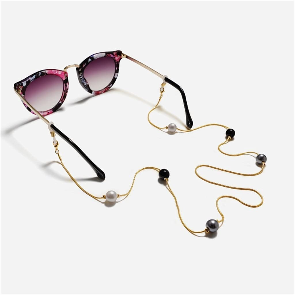 WJCCY Bohemia Three-Color Imitation Glasses Popular products Reading Cords Limited time for free shipping Pearl