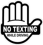 I Make Decals No Texting While Driving Sticker Black, 4' High X 3.85' Wide
