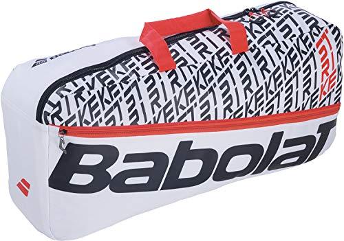 Babolat Duffel M Pure Strike Classic - Bolsa de Deporte para Raqueta de Tenis (4-6), Color Blanco