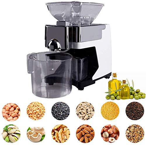 InLoveArts Oil Press Machine Electric Automatic Cold//Hot Commercial Oil Press Expeller Extractor 500W for Olive Flax Peanut Castor Hemp Seed Canola