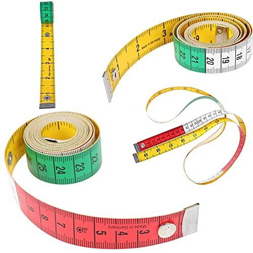 Cinta métrica reutilizable que no es fácil de romp 1pc cuerpo de medición de la regla de costura de costura Cinta métrica Mini suave Plana Ruler Centímetro Medidor de costura Cinta de medición 60in 1.
