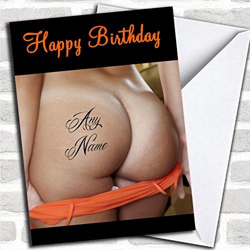 Dames Bum Tattoo Verjaardagskaart Met Envelop, Kan Volledig Gepersonaliseerd, Verzonden Snel & Gratis