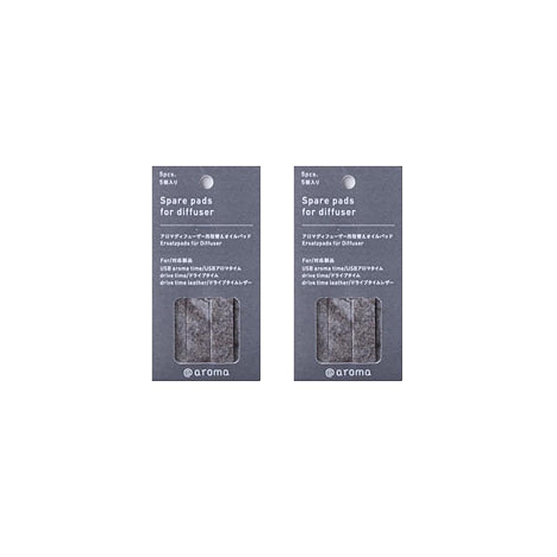 アットアロマ 取替えオイルパッド 5枚入 (2個セット) (ドライブタイム/USBアロマタイム用)