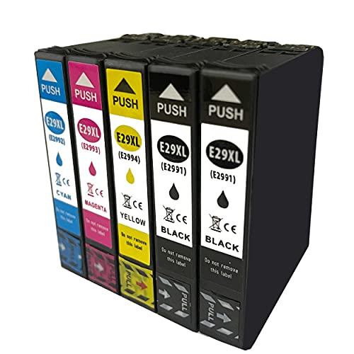 Hyggetech 5 cartuchos de impresora compatibles como repuesto para Epson Workforce Pro 35 XL 35XL cartuchos de tinta Workforce Pro WF-4740DTWF WF-4730DTWF WF-4720DWF WF-4725DWF