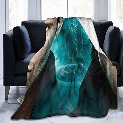GOSMAO Manta de Franela Tela de Cepillo Extra Suave Súper cálida Mantas para sofás acogedora y Ligera Sobrenatural-Dean-Winchester 50'x40',W127cm X L102cm