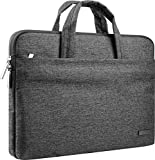 CCPK Laptop Sleeve for 13 Inch MacBook Air Pro M1 Hp 14 Inch Laptop Case Cover Chromebook Pavilion x360 Stream 14' ASUS Acer Lenovo 14in Computer Bag with Handle Waterproof Canvas Briefcase Black Grey