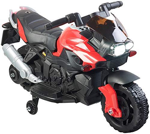 Playtastic Elektro Motorrad Kinder: Kinder-Elektromotorrad mit MP3-Funktion, Sounds & Stützrädern, 3 km/h (Kindermotorräder)