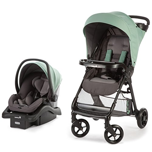 Safety 1st Smooth Ride Travel System with OnBoard 35 LT Infant Car Seat, Moss Green