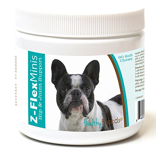 Healthy Breeds French Bulldog Z-Flex Minis Hip and Joint Support Soft Chews 60 Count