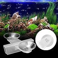 2つの吸盤、水槽仕切り、水槽用吸盤、水族館の水槽を分離するための耐久性のある20個