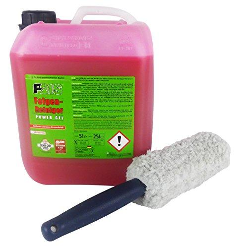 Dr. Wack P21S Felgenreiniger Felgen-Reiniger Power Gel 5 L Liter & Felgenbürste