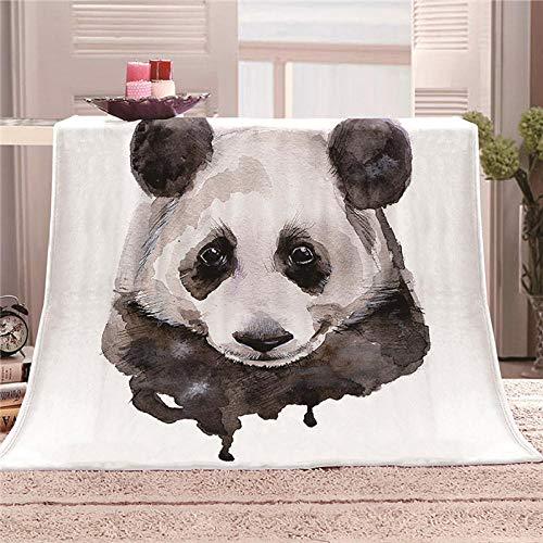 xczxc Manta de Franela Panda 3D Impreso de Microfibra Franela Mantas, Suave niños Adultos sofá Cama Manta Polar 180x200cm