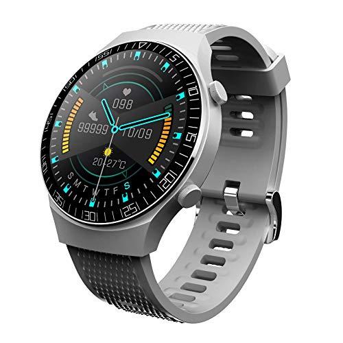 TISHITA Reloj inteligente de 1,28 pulgadas, Bluetooth 4.0, recordatorio de mensajes, resistente al agua, para Android, color gris