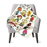 AEMAPE Charlie Brown, Snoopy Babydecke oder Flauschige Decke für Kinder Unisex-Decke für Kinderbett Couch Travel Superweiche warme Kinderdecke 50x40in