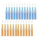 MILISTEN 30 Piezas Telescópicos Cepillos Interdentales Palillos Dentales Cabeza de Limpieza Dental Higiene Dental Oral Cepillo Dental Interdental Limpiadores de Dientes Herramienta de