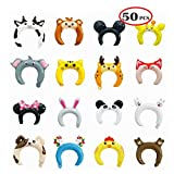 Kids' Party Balloons Hats Inflatable Animal Foil Balloon Ribbon Cartoon Headbands Birthday Party Supplies Party Favors Photo Props for Girls Boys Kids &Adults Pack 50