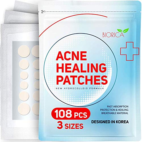 Invisible Acne Patch, Pimple Healing. Hydrocolloid Acne Spot Treatment, Sticker with Absorbing Cover...