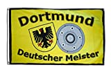Fahne / Flagge Dortmund Deutscher Meister + gratis Sticker, Flaggenfritze®