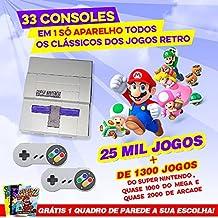 Video Game Retrô com 25.000 jogos, 64GB, 2 CONTROLES