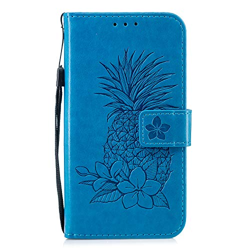 Great Deal! Herbests Compatible with Samsung Galaxy S6 Wallet Case Emboss Pineapple Folio Magnetic P...