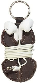 Leather Key Chain & Headphone Wrap Handmade by Hide & Drink :: Espresso