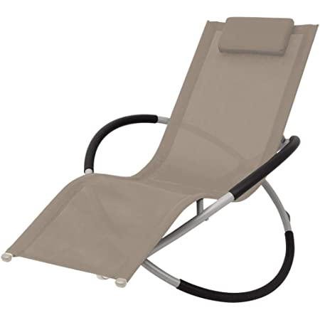 Vidaxl Sonnenliege Geometrisch Schaukelliege Gartenliege Liegestuhl Relaxliege Schaukelstuhl Garten Liege Sessel Gartenmobel Stahl Creme Amazon De Kuche Haushalt