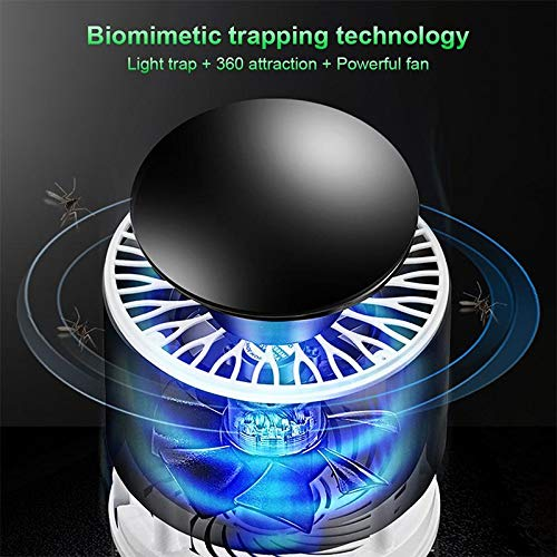 PYXBE International Eco Friendly Electronic LED Mosquito Killer Machine Trap Lamp, Mosquito Killer lamp for Home, USB Powered Electronic Fly Inhaler Mosquito Killer Lamp, Mosquito (Black) (Black_)