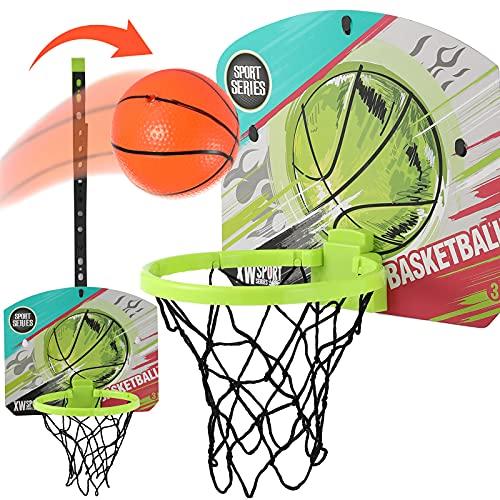 Mini Basketball Hoop for Kids, Indoor Basketball Hoop for Door & Wall with Basketball Accessories, Toddler & Kids Room Decor for Boy, Portable Basketball Gifts for Kids Boys Teens 14.8x12.2