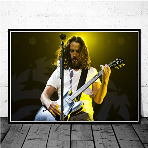 lubenwei Posters and Prints Chris Cornell Music Singer Star Poster Wall Art Picture Canvas Painting for Room Home Decor 40x50cm No frame AW-476