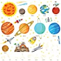 Decowall,The Solar System peel & stick Nursery wall decals stickers