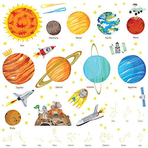 Solar System Kids Wall Stickers