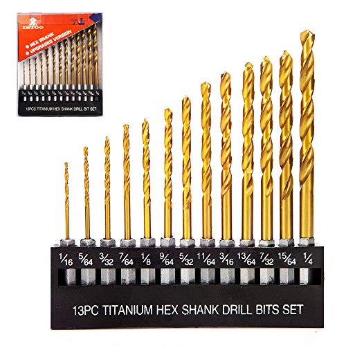 INTOO Drill Bit Set 13 Piece 1/16