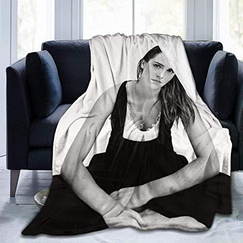 FrendMALL Emma Watson Ultraweiche Micro-Fleece-Decke, weich und warm, digital Bedruckte Decke FlanellMultifunktionale Sofadecke, Schlafzimmersofa, Wohnzimmerbedarf